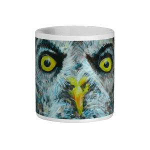 great grey owl ceramic mug, bird lover gift, coffee mug, tea mug, ,