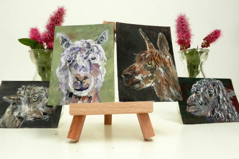 alpaca art, llama art collection, cute alpaca gift