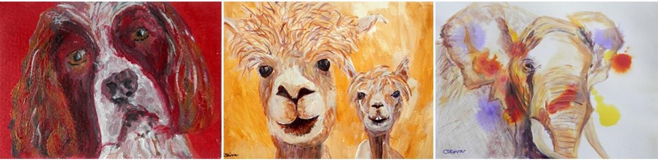 Selection of paintings by Caroline Skinner Art