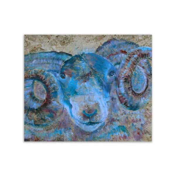 Blue ram placemats