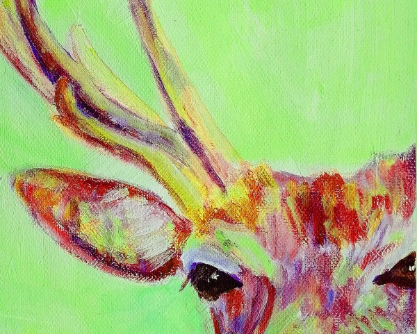 stag painting, wildlife art