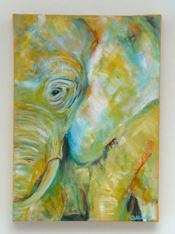 Yellow home decor for elephant lovers