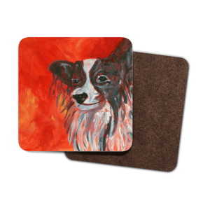 Papillon dog coaster set