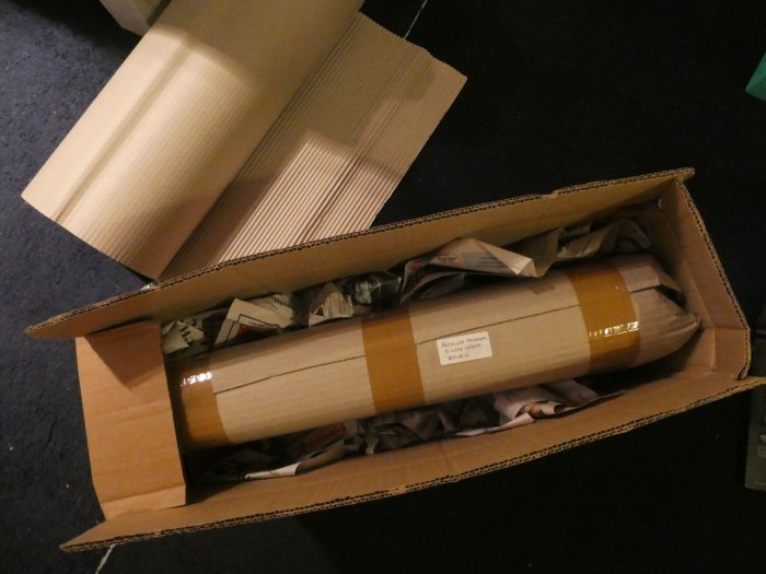 Carefully packaged artworks