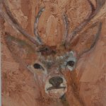 Testured deer painting