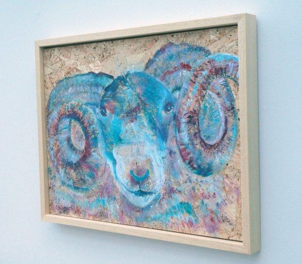 Blue Ram Painting