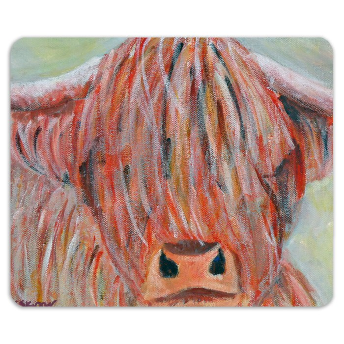 Glossy highland cow placemat