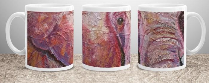 Ultraviolet elephant mug