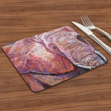 Ultraviolet elephant placemat