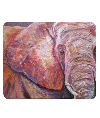 pink and purple elephant tablemat