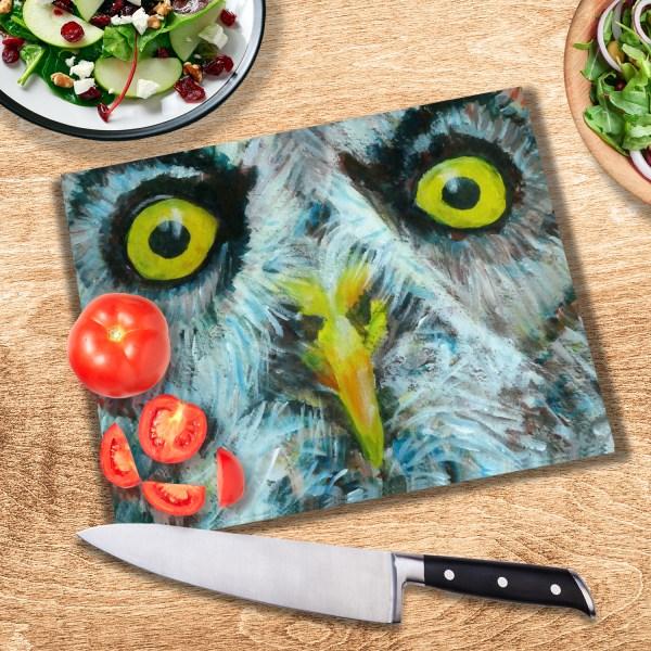 Grey owl heatproof glass cutting board
