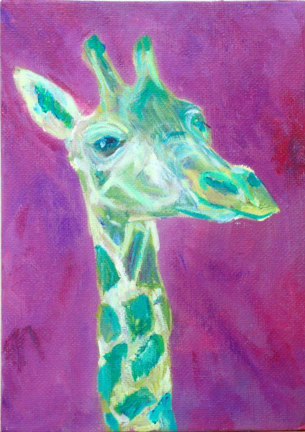 Cute baby giraffe painting