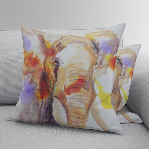 Double sided elephant cushion