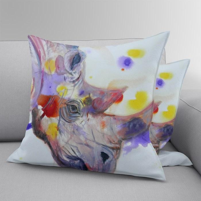 Luxury purple rhino cushion