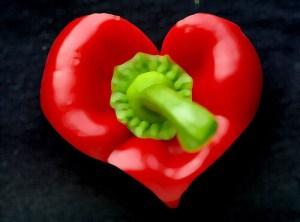 red pepper heart