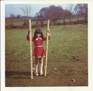 Caroline with stilts