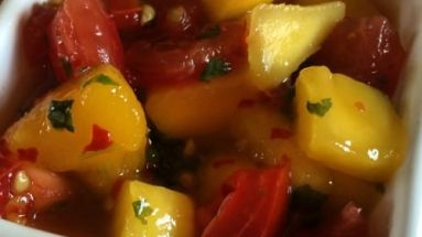 Plant based vegan mango chilli