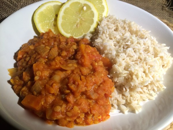 Carrot, lentil and celery curry