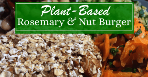 Plant Based Rosemary & Nut Burger