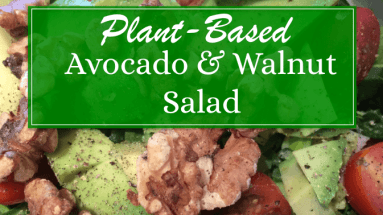 Plant-Based Avocado & Walnut Salad