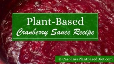 Plant-Based Cranberry Sauce Recipe