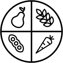 Fruits, vegetables, legumes and whole grains