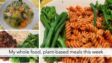 My whole food, plant-based meals this week