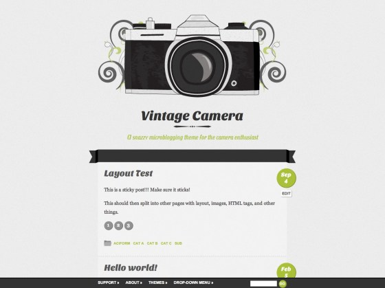 Vintage Camera WordPress Theme - K1000 Style