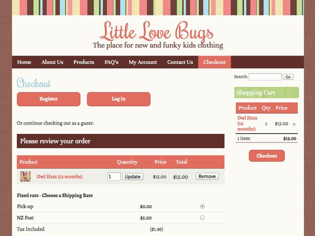 Little Love Bugs - Theme Customization