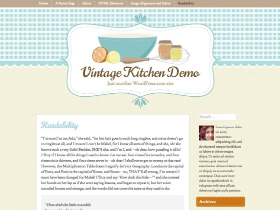 Vintage Kitchen Premium WordPress.com Theme