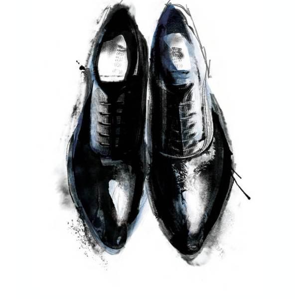Brogue Shoes Fashion Illustration