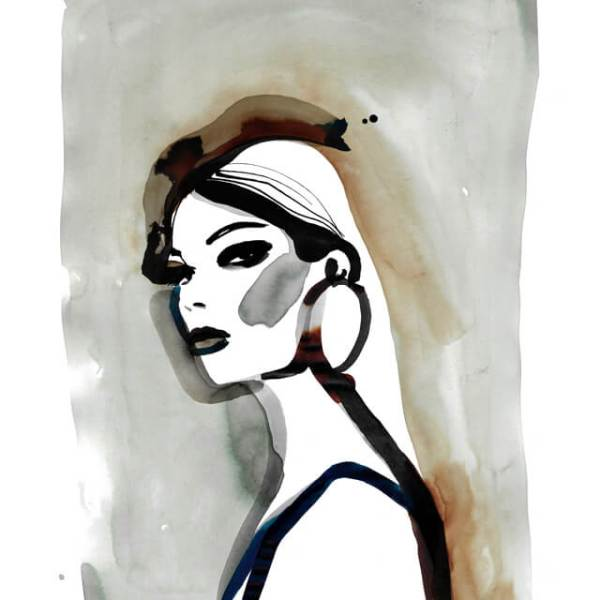 Portrait Fashion Illustration - Hair