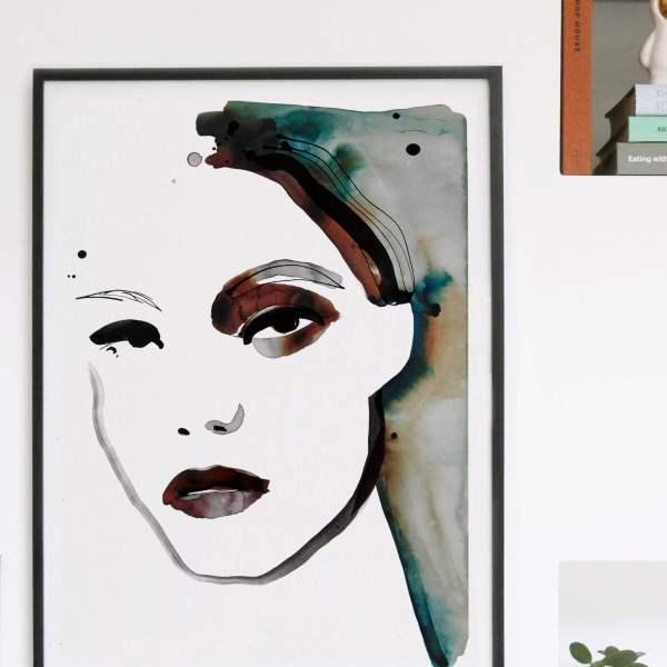 Portrait Fashion Illustration - Make Up