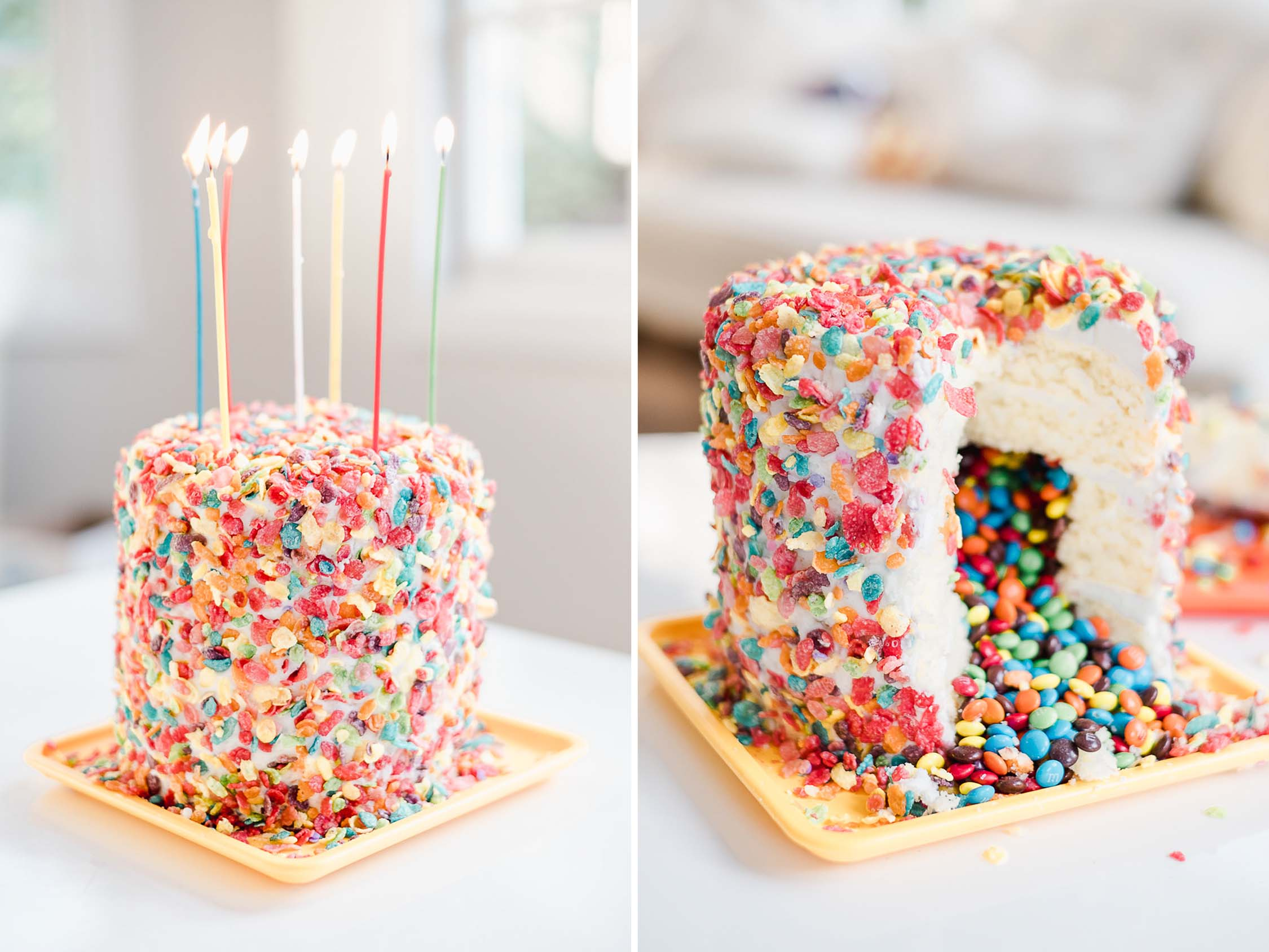 Diy Candy Surprise Inside Birthday Cake