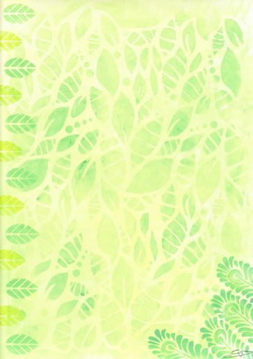 Dry Erase Memo Board - Subtle Patterns Green