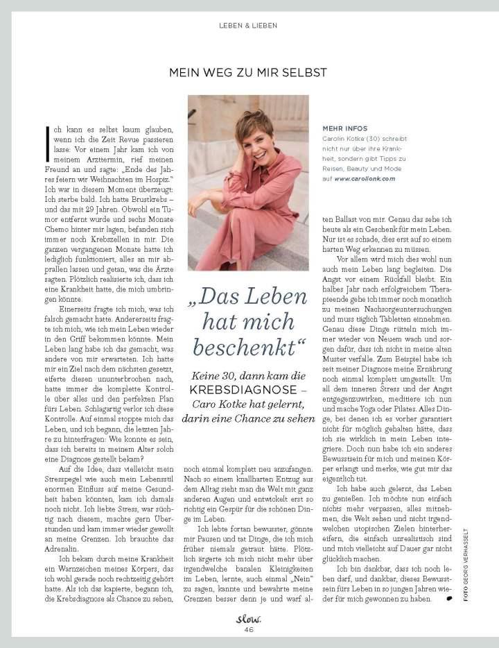 Carolin Kotke, Caro Kotke, Interview, Emotion Slow, Achtsamekeit