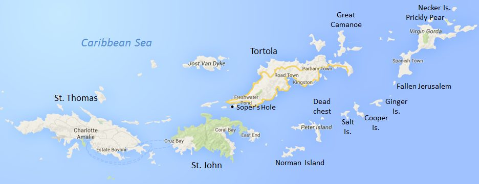 BVI British Virgin Islands map