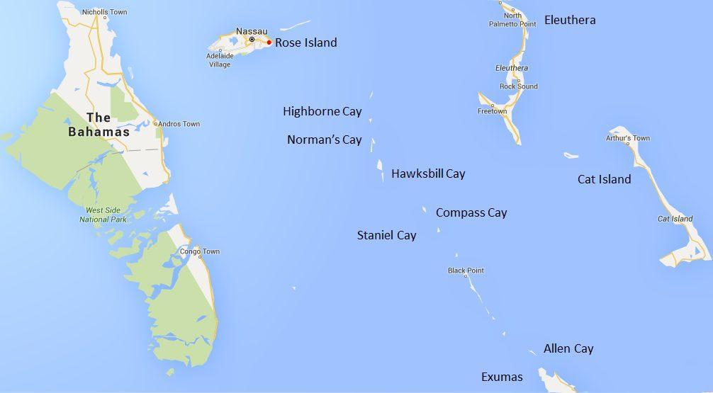 Exumas Map