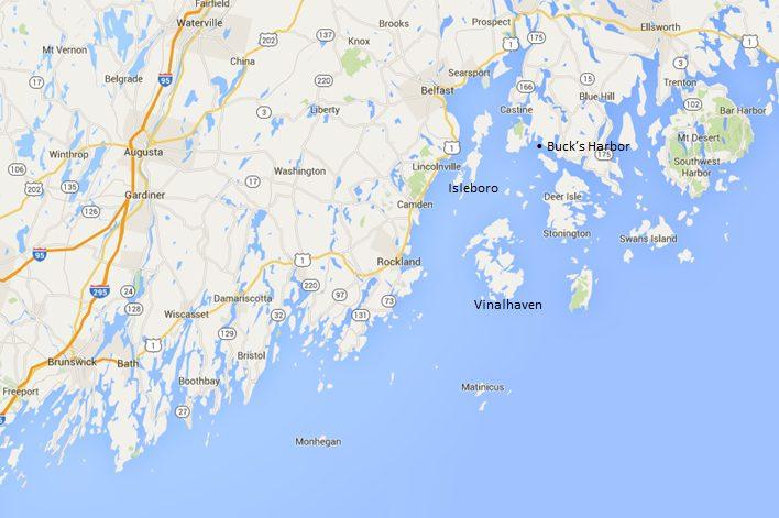 Maine Coastal Yacht Cruise Map