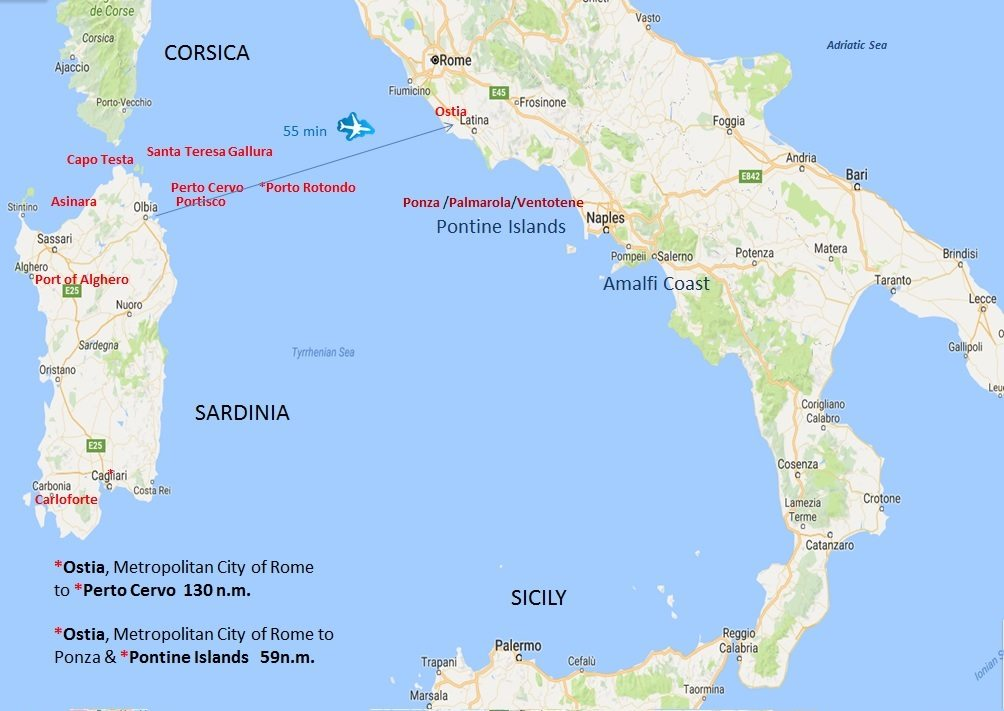 Sardinia Cruising Itinerary
