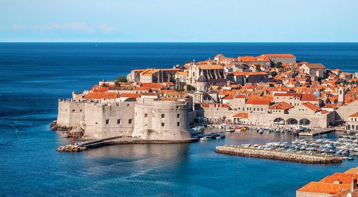 The city of Dubrovnik, Croatia sits on the Adriatic Sea and joined the UNESCO list of World Heritage Sites in 1979.