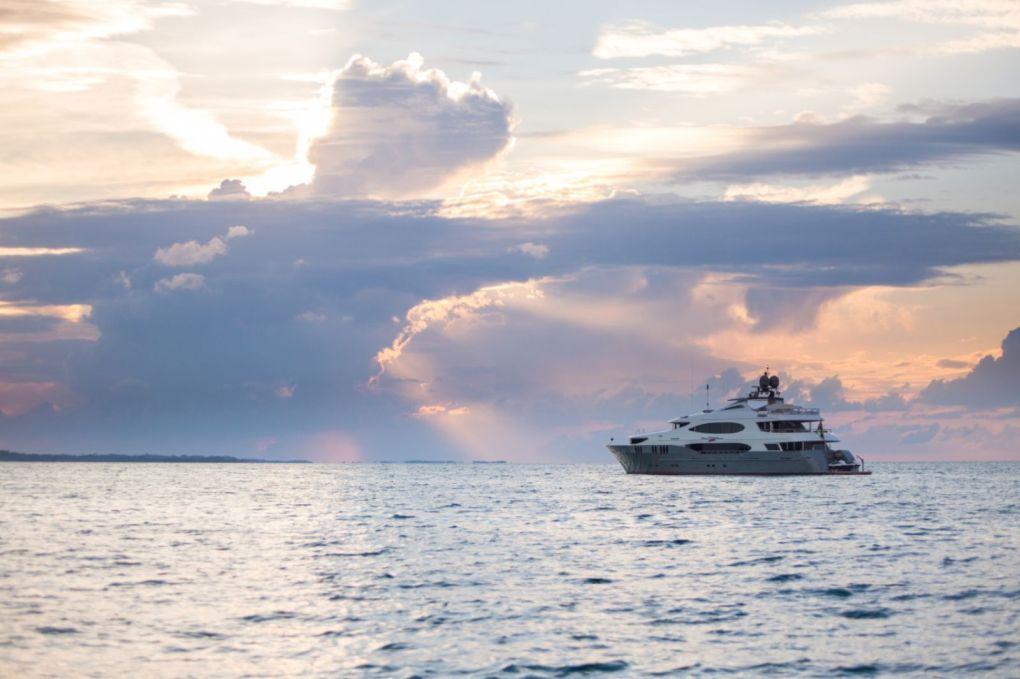 Clouds on Horizon profile of ZOOM ZOOM ZOOM cruising toward sunset
