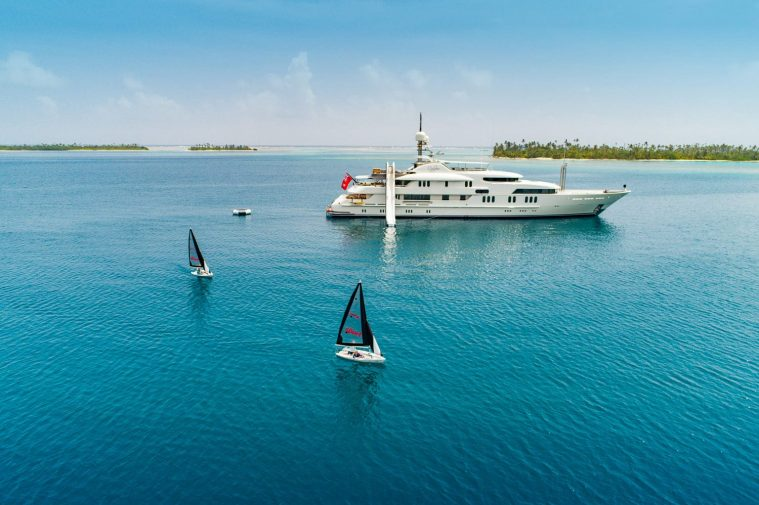 Sailing and sliding in your own private paradise motor yacht CALYPSO