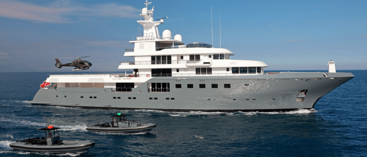 Main Shot of 240ft motor yacht Planet Nine