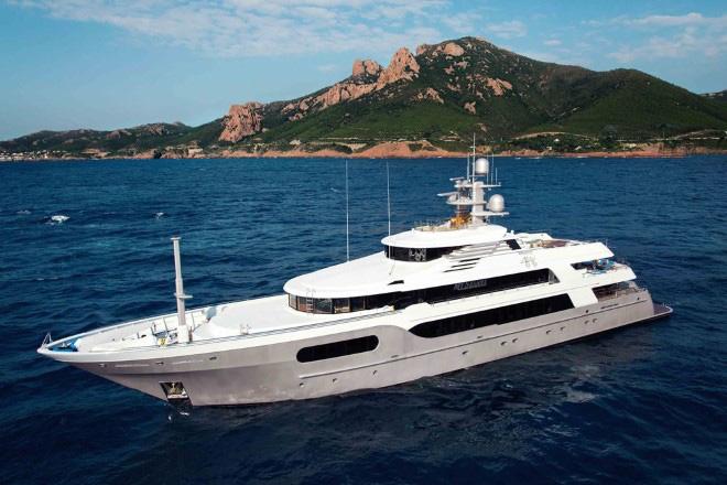 Main shot of 185ft Delta Marine motor yacht SEANNA