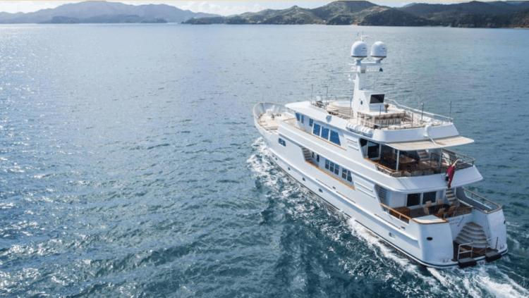 Main shot of 112ft Kingship Marine motor yacht RELENTLESS