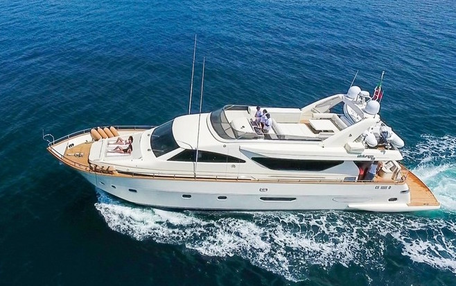 79ft motor yacht RIVIERA available in the West Mediterranean