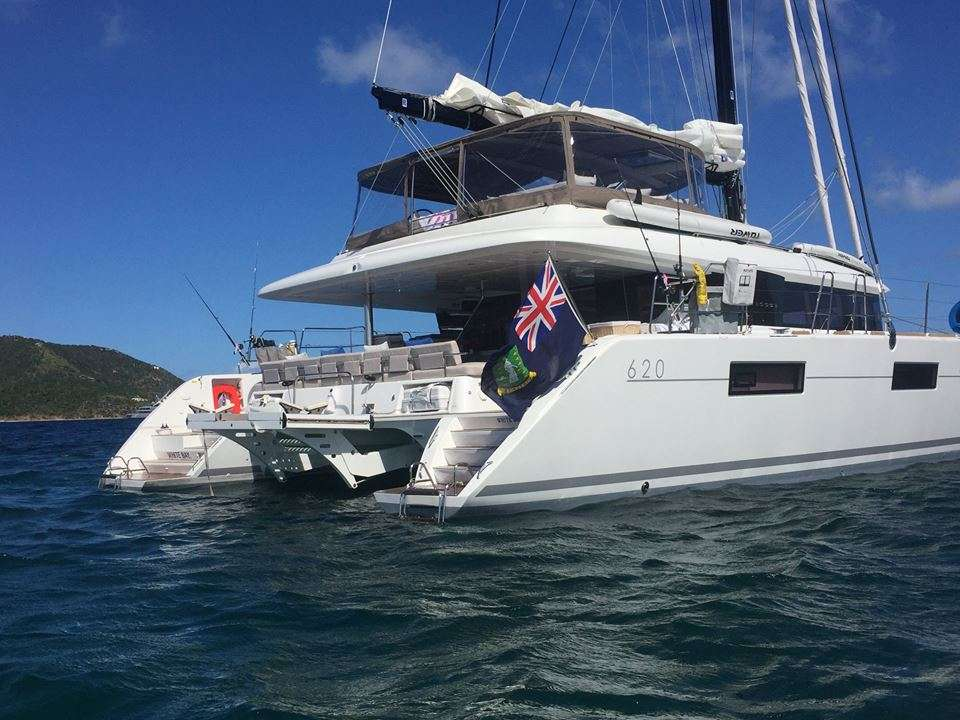Main shot of 62ft Lagoon catamaran sailing yacht BAGHEERA