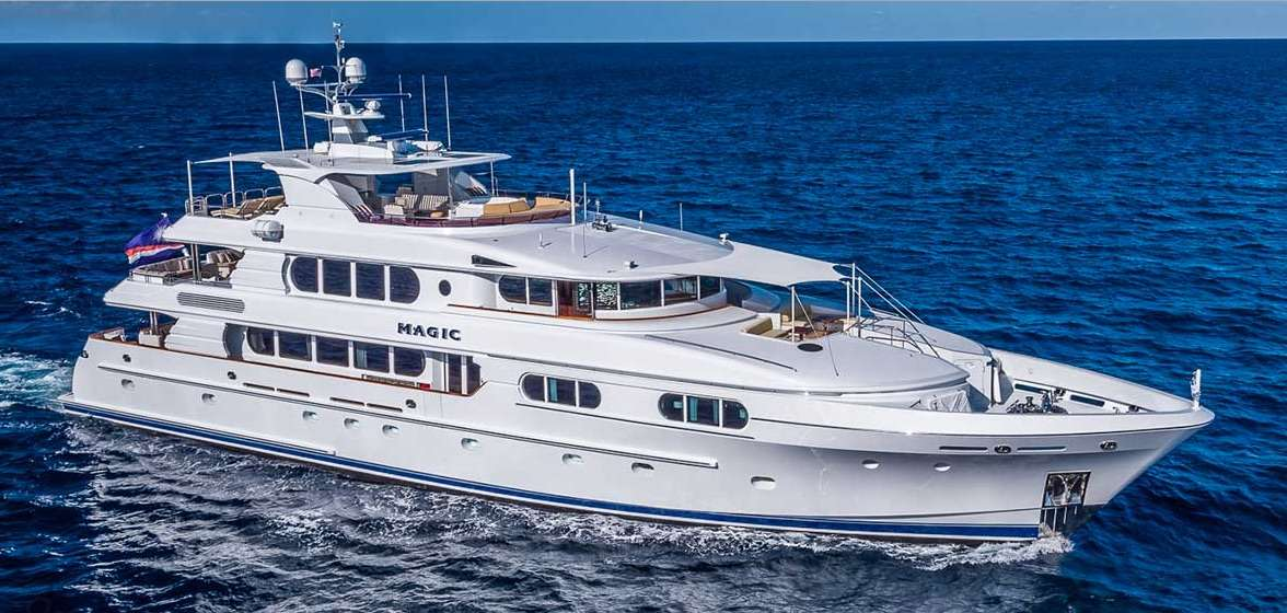 130ft motor yacht Magic Operating in the Bahamas, Caribbean and the North America