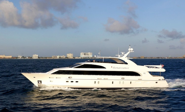 Main shot of 116ft Hargrave motor yacht RENAISSANCE at sea_